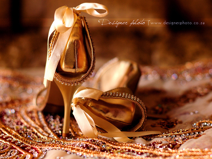 Bridal make up, Indian wedding jewellery, Indian bridal shoes, gorgeous gold heals