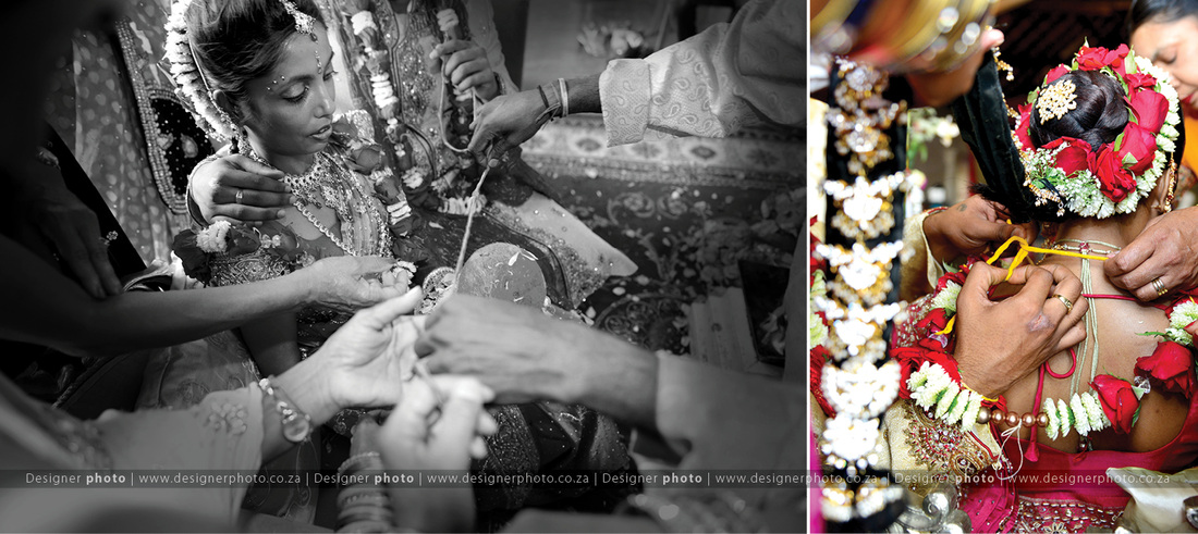 Tamil Bride tying of thali